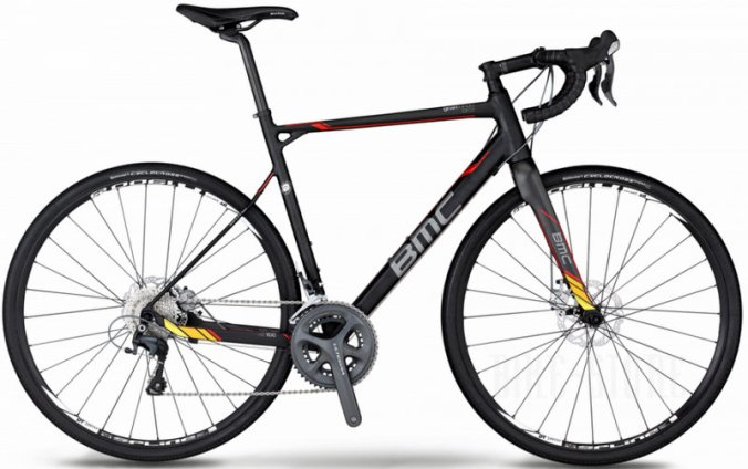 BMC granfondo 2014 GF02 Disc  105  Ultegra  black red yellow