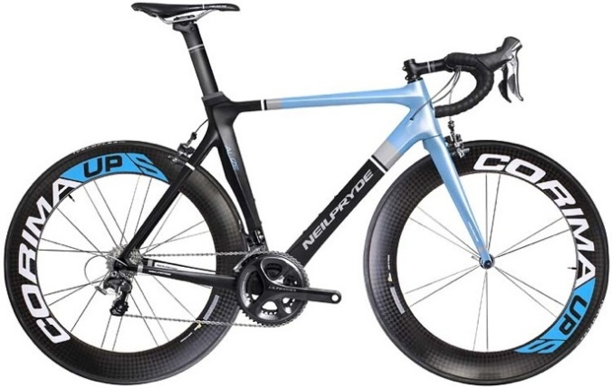 Neil Pryde-Alize 2014 light blue black carbon wheels