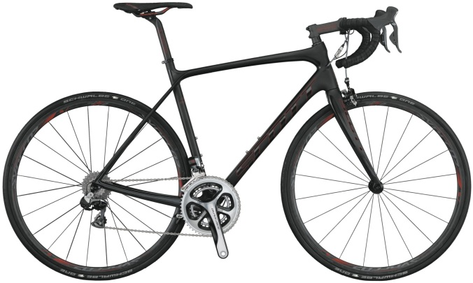 Scott solace dura ace black red 2014