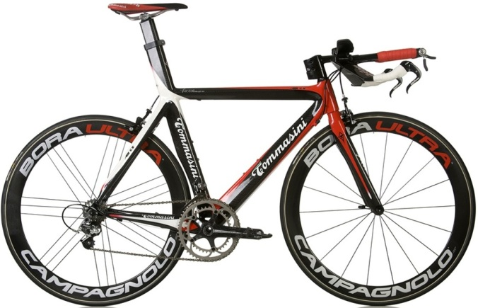 Tommasini Air CX Carbon tt black red white campy