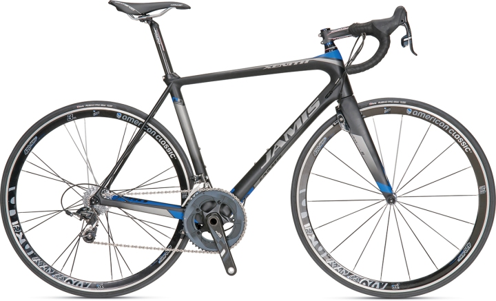 2014 jamis xenith pro black blue sram red