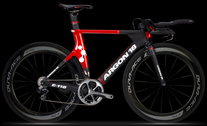 Argon 18 e-118 tt black red 2014 dura ace