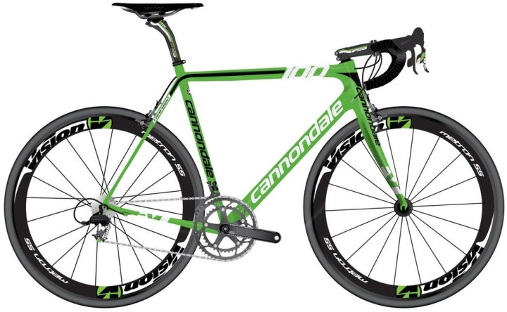 Cannondale supersix hi-mod sagan green edition 2014 1000 units