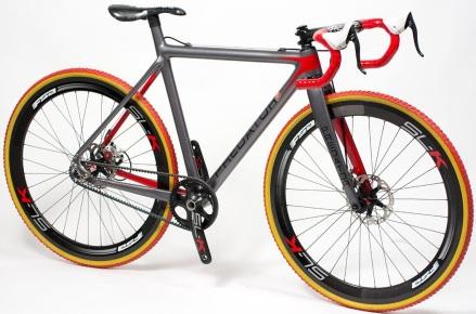 Predator carbon_cross_bike_silver orange red 2013 cx