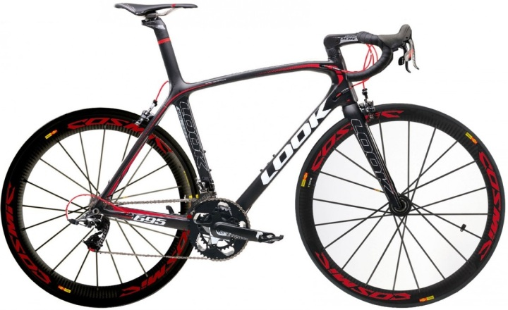 2014 look 695 light sram red black matte