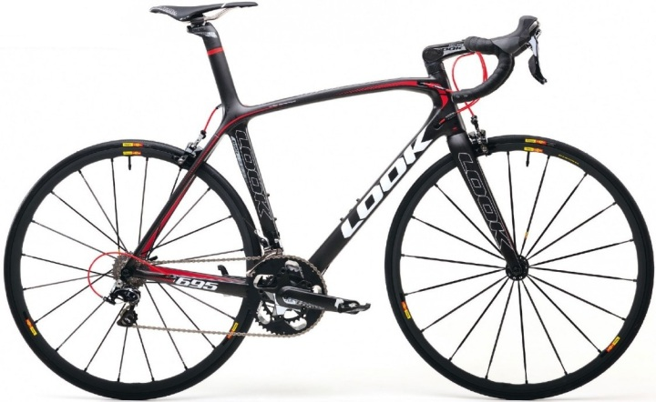 2014 look 695 red black dura ace mavic
