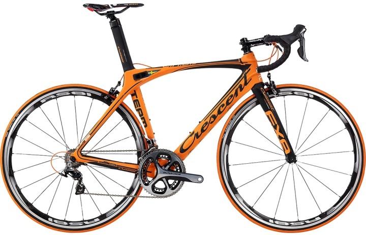 Crescent Exa Black matt orange dura ace 2014