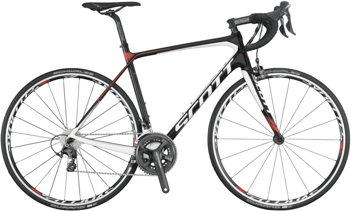 Scott solace 20 ultegra black red 2014