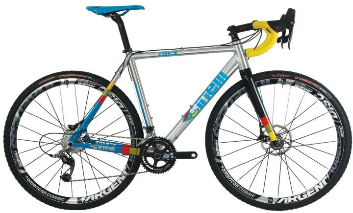 Cinelli Zydeco cx disc silver blue yellow 2014