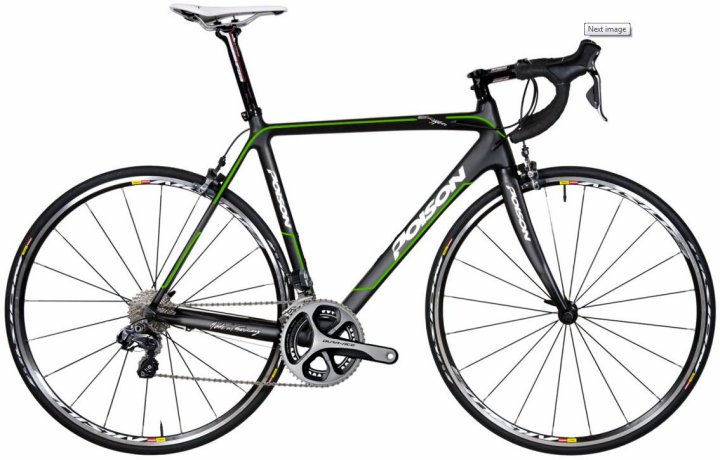 Poison Oxygen T + dura ace black green 2014