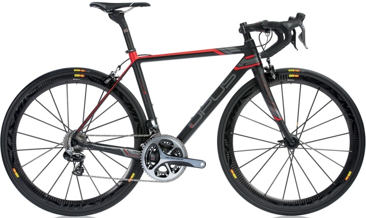 Opus Vivace 1.0 2014 black red grey dura ace mavic cosmic