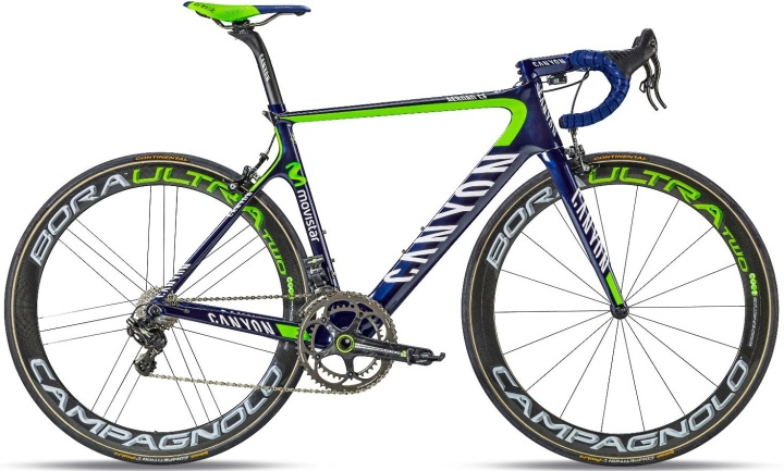 2014 canyon aeroad cf team movistar campy super record