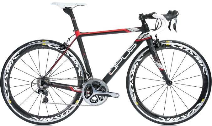 Opus Vivace 2.0 2014 dura ace black red silver