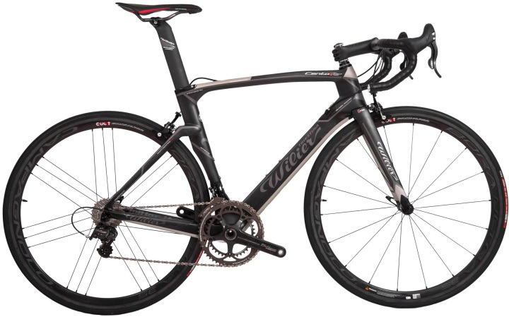 2014 Wilier Cento1Air campy super record rs black silver grey