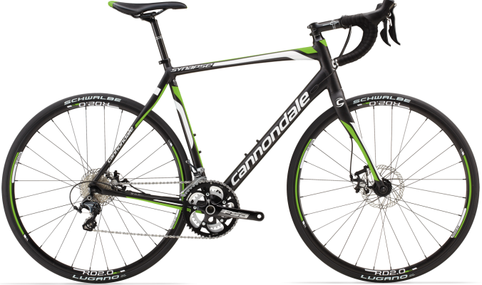 Cannondale Synapse Disc 3 ultegra lime black 2014