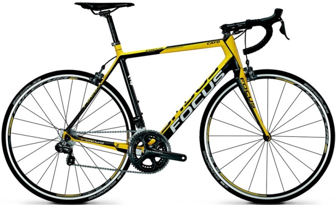 focus-cayo-evo-10 2014 ultegra black yellow
