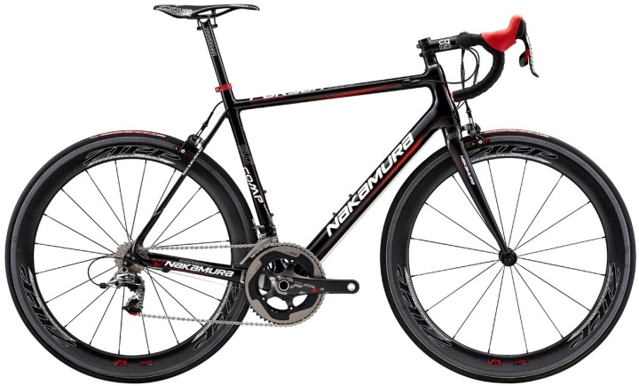 Nakamura Pursuit 9.0 red black sram zipp 2014