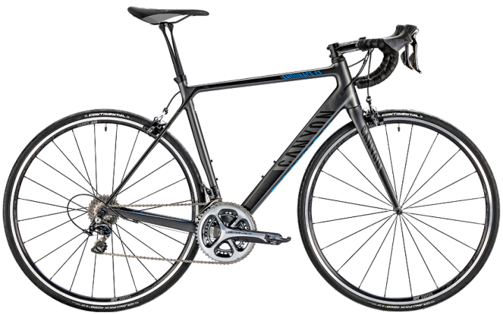 Canyon Endurace CF 2014 black blue dura ace