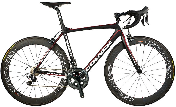 2014 colner calipso ultegra red white black