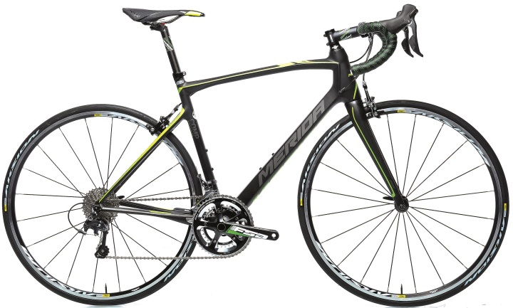 2015 Merida Ride CF 95 black yellow lime ultegra