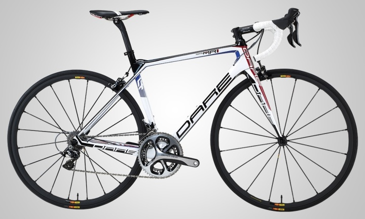 Dare MR1 white red blue dura ace 2015