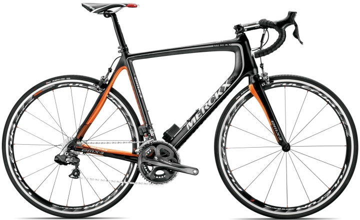 merckx EMX_3_Black_Carbon_Orange_Shimano_Ultegra_2013