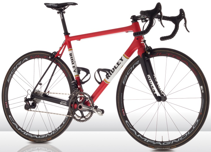 Ridley Helium SL Lotto Belisol 2014 red