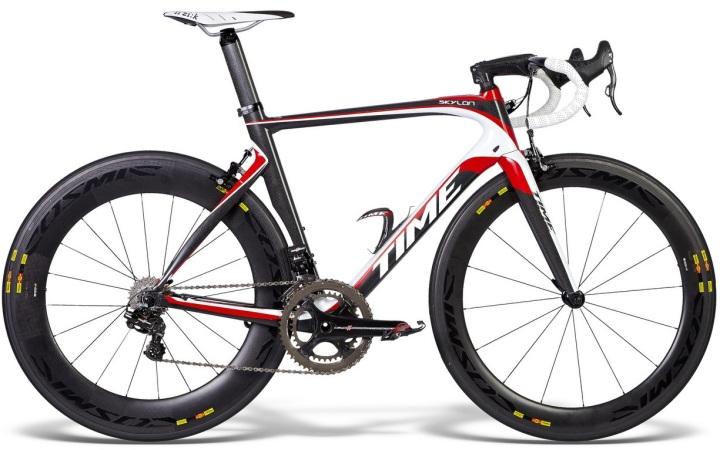 Time Skylon-Team_bike 2015 red white black campy