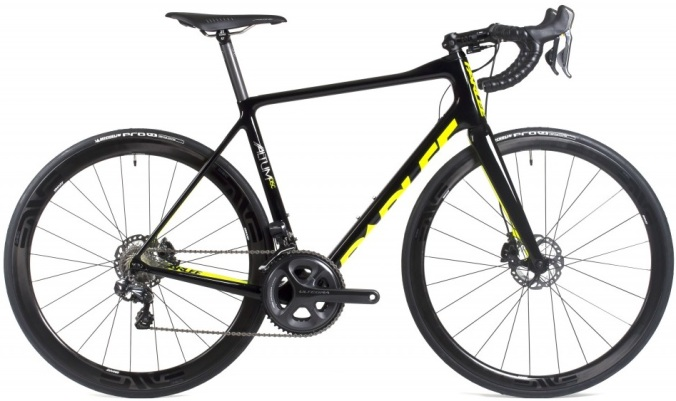 2015 Parlee Altum disc yellow black ultegra