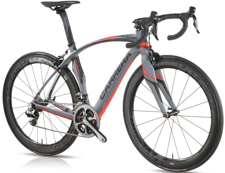 2015 Carrera Phibra Evo grey red dura ace