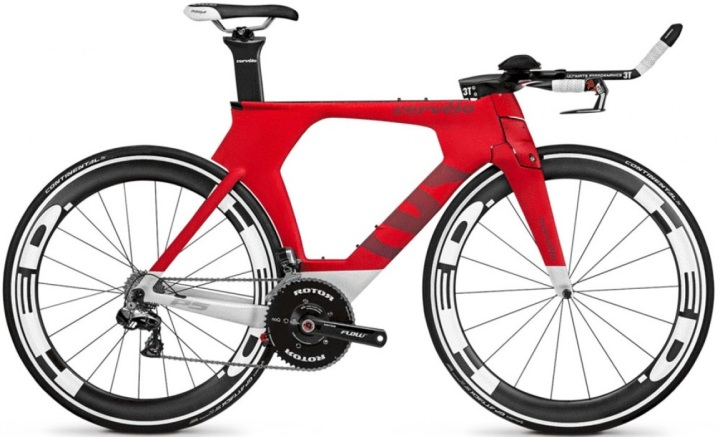 2015 Cervelo P5 red dura ace tt