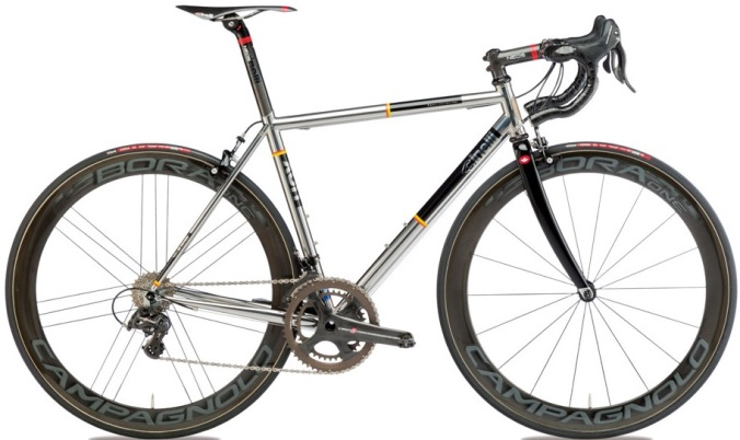 2015 Cinelli XCR stainless steel campy