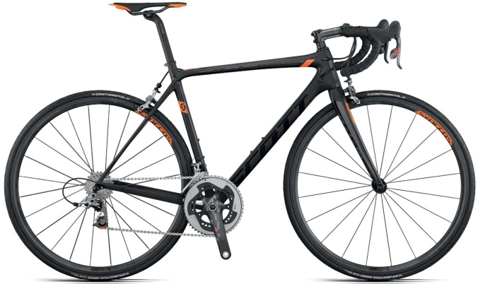 Scott Addict SL 2015 sram red orange black