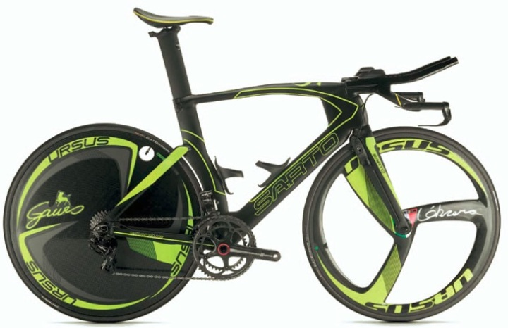 Sarto Velox 2015 tt lime yellow black campy