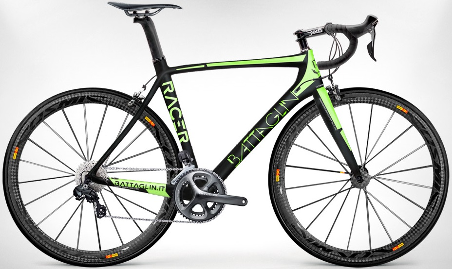 2015 Battaglin Racer lime ultegraneuroticarnutzlitespeed Li2-2014 black lime