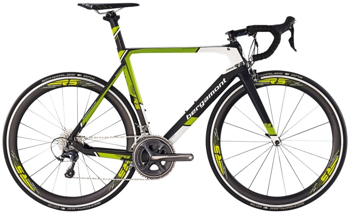 2015 Bergamont Prime RS lime ultegra black white 2