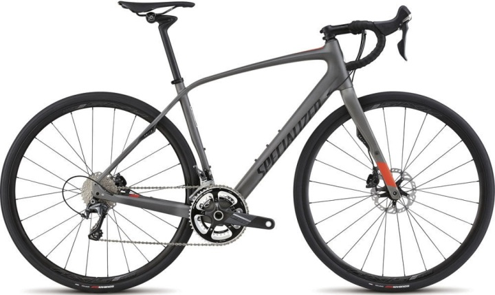Specialized Diverge Expert Carbon 2015  grey red disc