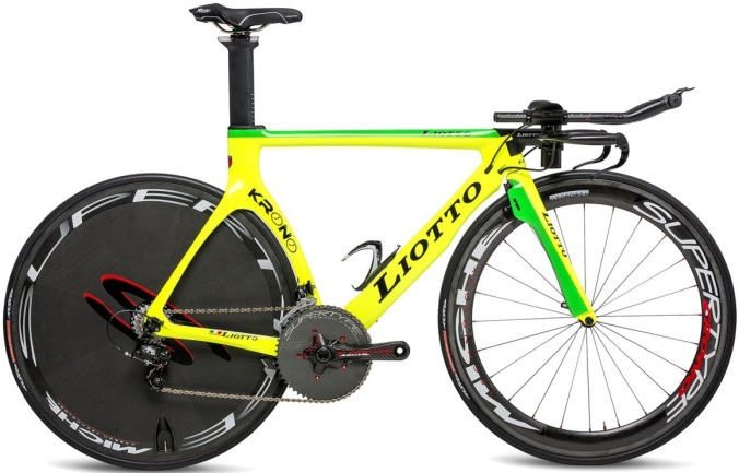 2015 Liotto krono yellow lime tt campy
