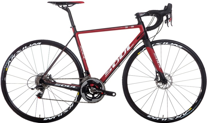 2015 Soul 3R3 red black sram disc