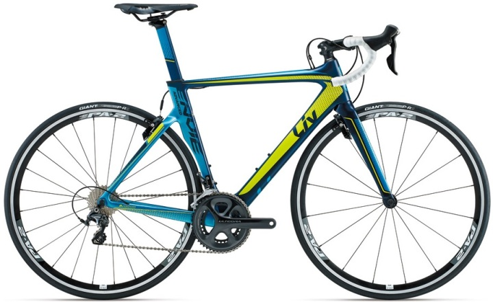 Giant Envie Advanced liv 2015 lime yellow blue ultegra