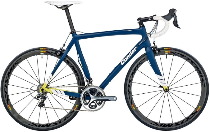 2015 Condor Leggero blue yellow dura ace