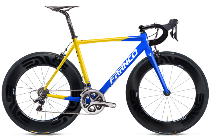 2015 Franco Balcom S blue yellow dura ace