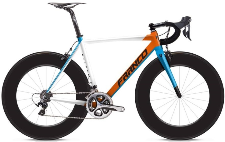 2015 Franco Balcom S orange light blue dura ace