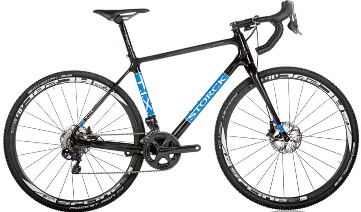 2015 Storck TIX disc ultegra cx black light blue
