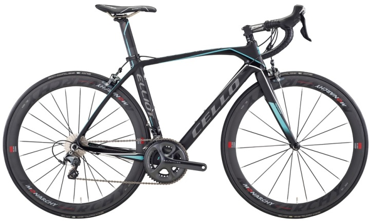 2015 Cello Elliot Signature ultegra black light blue