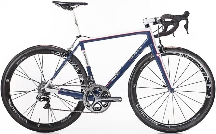 2015 Domahidy carbon road whiet black blue dura ace