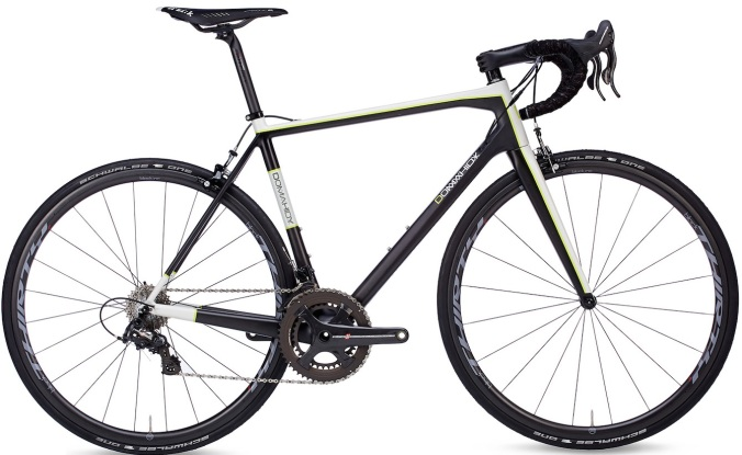 2015 Domahidy carbon road whiet black yellow campy super record