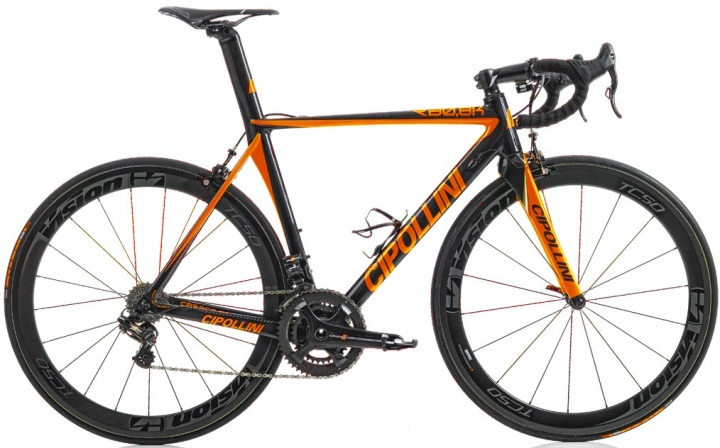 roadbike-cipollini-rb800-2015 black orange campy