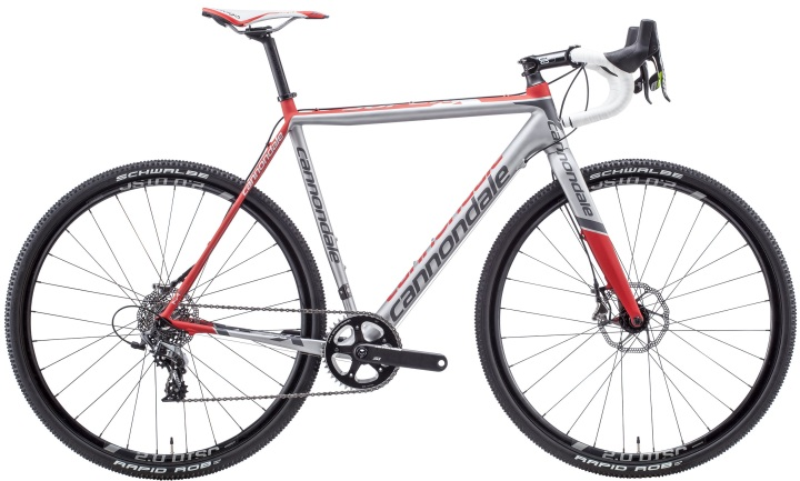 Cannondale SuperX CARBON SRAM CX1 Disc 2015 cx silver red