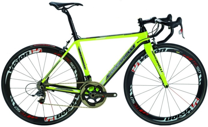 2014 Saccarelli 700 lime sram red